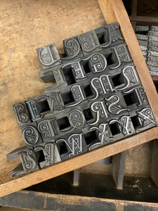 Around 40pt Mortised initials from the REED and sons foundry
