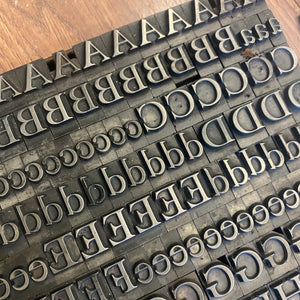 Huge fount of 48pt Caslon old face metal type