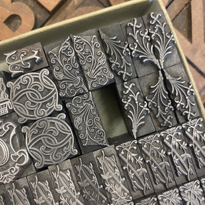 A selection of old foundry decorative type.