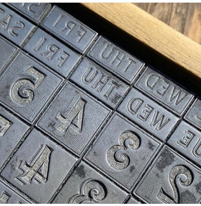 Two colour letterpress perpetual calendar