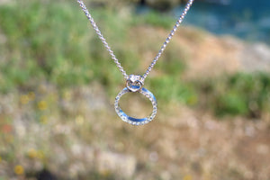 Diamond and topaz engagement ring - necklace