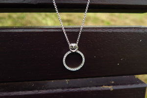 Diamond engagement ring-necklace