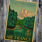 Canada Air France Vintage poster