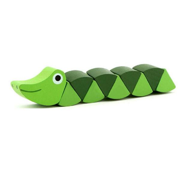 Chenille et Crocodile flexible en bois | Montessori