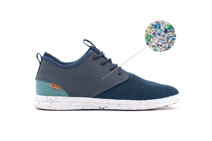 Shoes made from recycled plastic