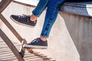 CANNON KNIT OBSIDIAN, Sustainable shoes, casual, cute - SAOLA SHOES