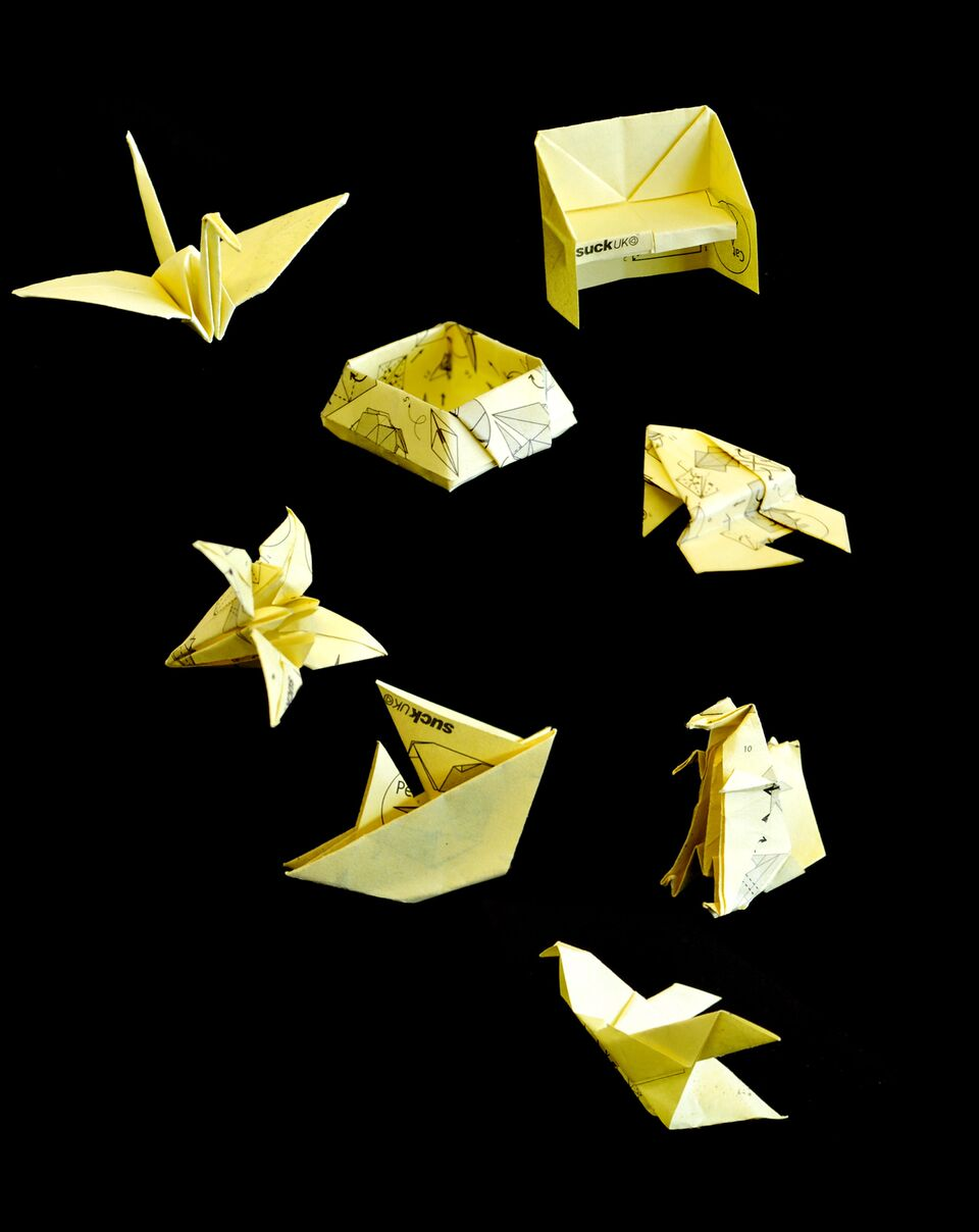 Dont swing on your chair origami sticky notes dont swing on your chair jeuxipadfo Images