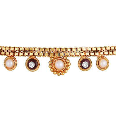 Asmitta Jewellery Gold Alloy Anklet - AN113