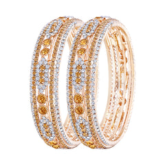 Asmitta Splendid Gold Plated LCT Stone Bangle Set For Women