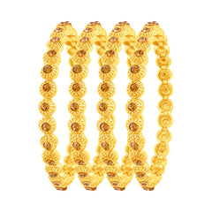 Asmitta Fancy Gold Plated Austrian Stone Set Of 4 Bangles For Women