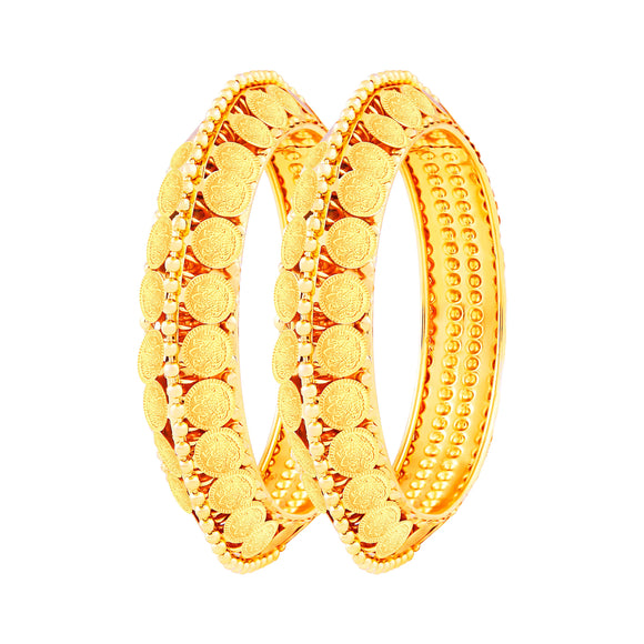 Asmitta Jewellery Laxmi Coin Gold Bangle Set  -BG117