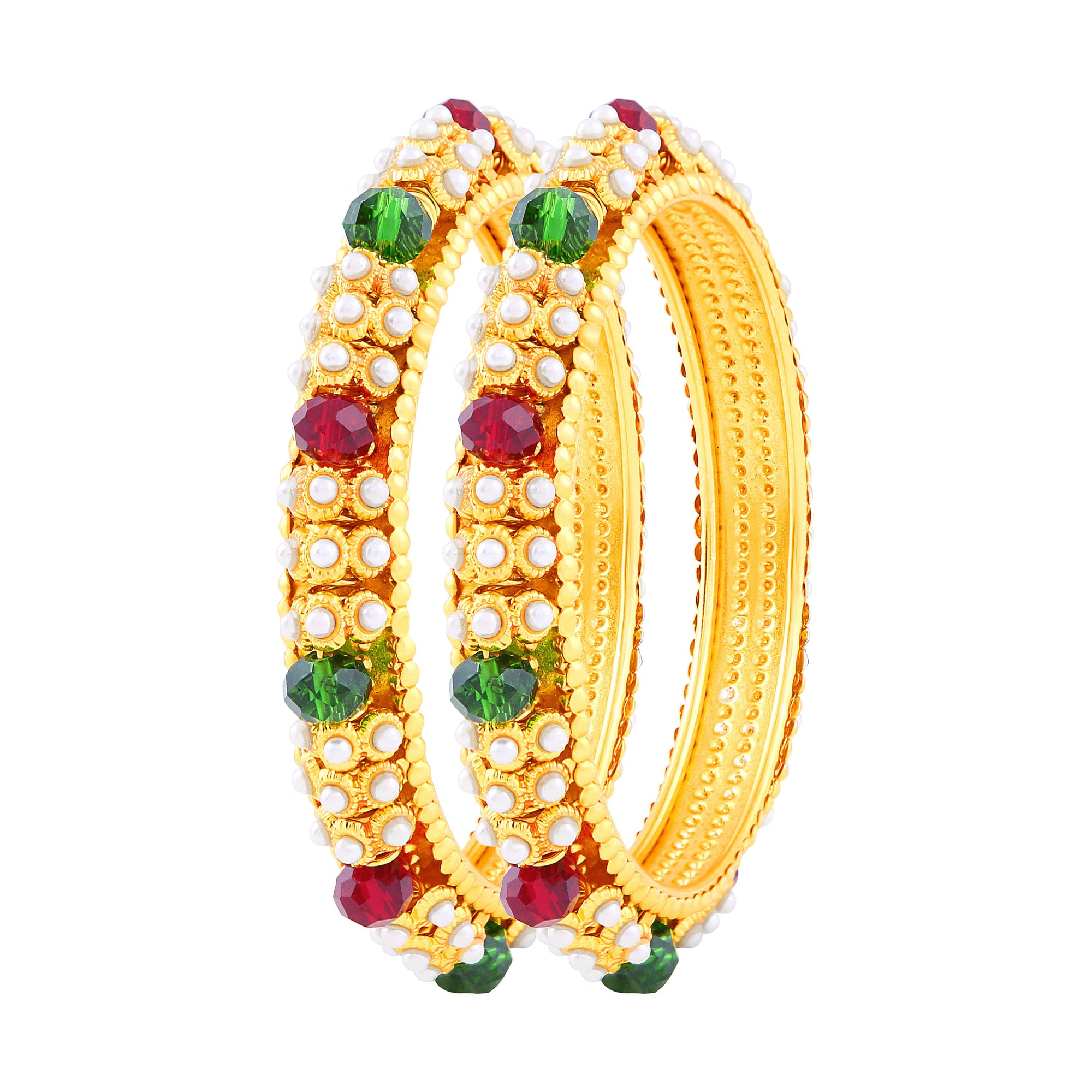 Asmitta Jewellery multiGold Bangle Set  -BG121