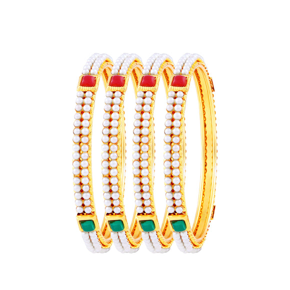 Asmitta Jewellery Gold  Set Of 4 Bangles  -BG122