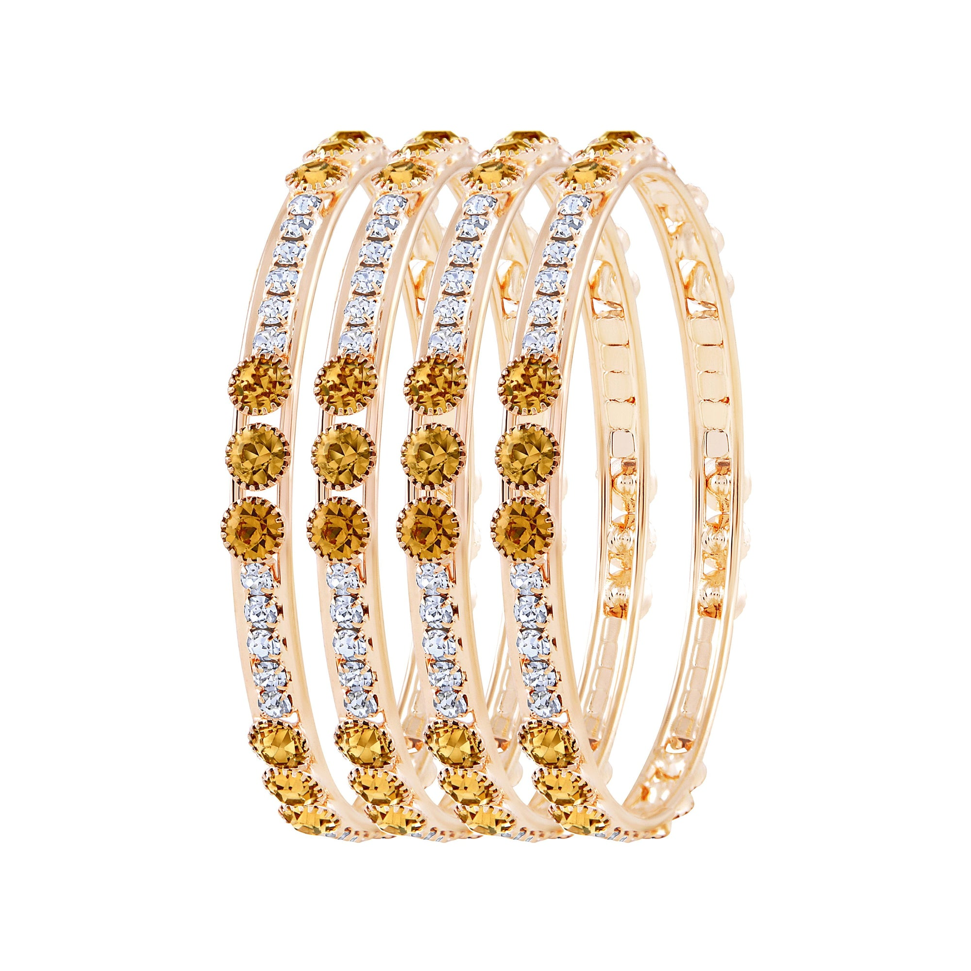 Asmitta Jewellery Gold Set Of 4 Bangles  -BG124