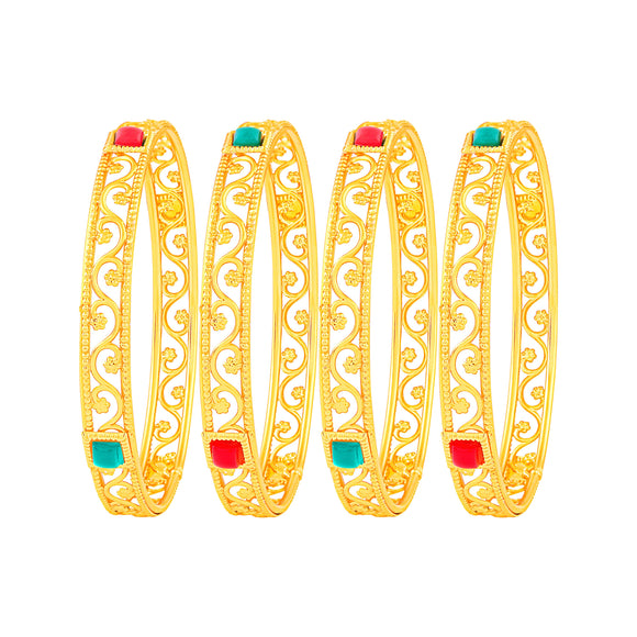 Asmitta Jewellery Gold Set Of 4 Bangles  -BG126