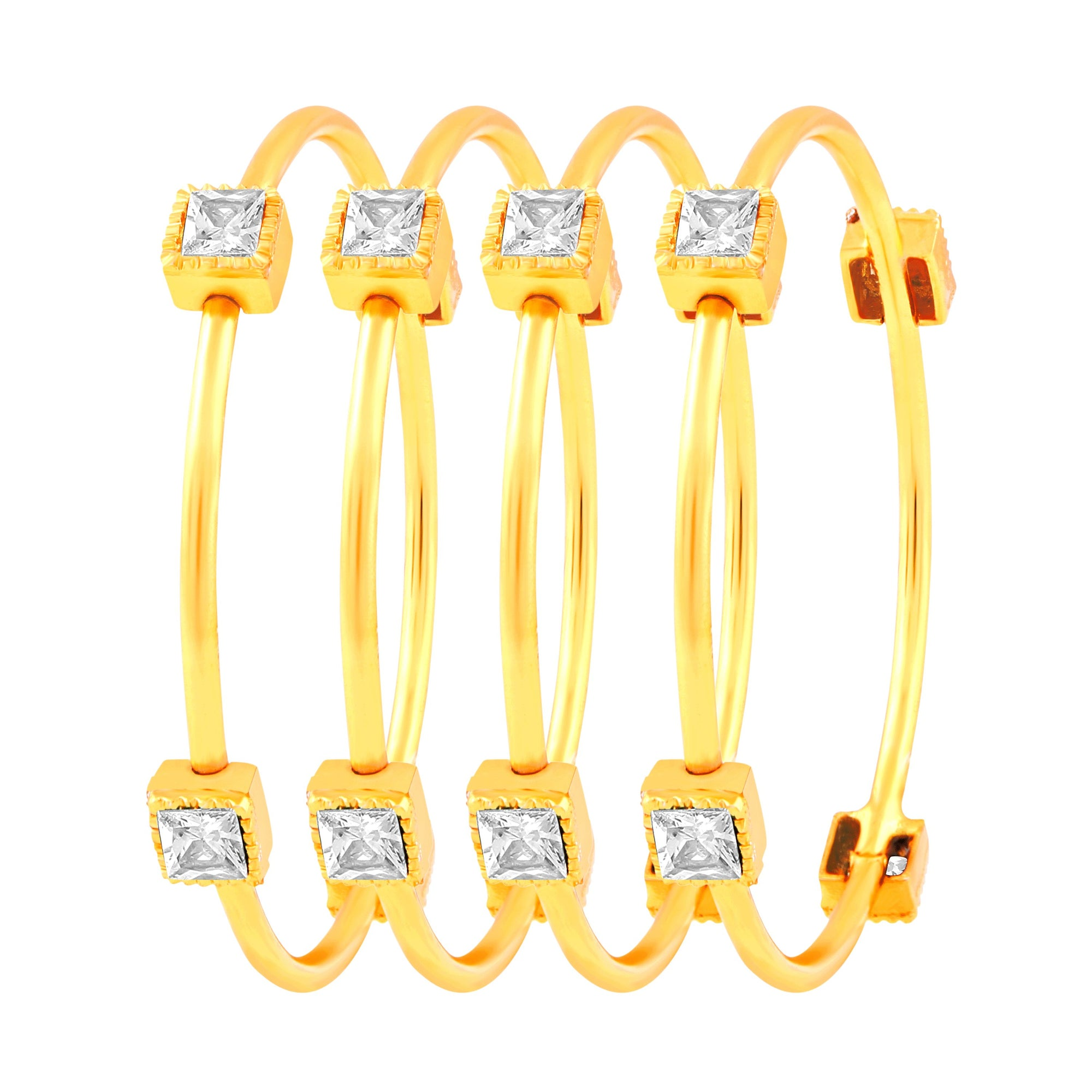Asmitta Jewellery Gold Set Of 4 Bangles  -BG127