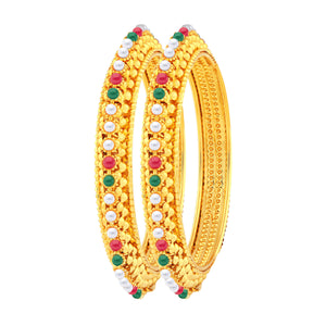 Asmitta Jewellery MultiGold Bangle Set  -BG129