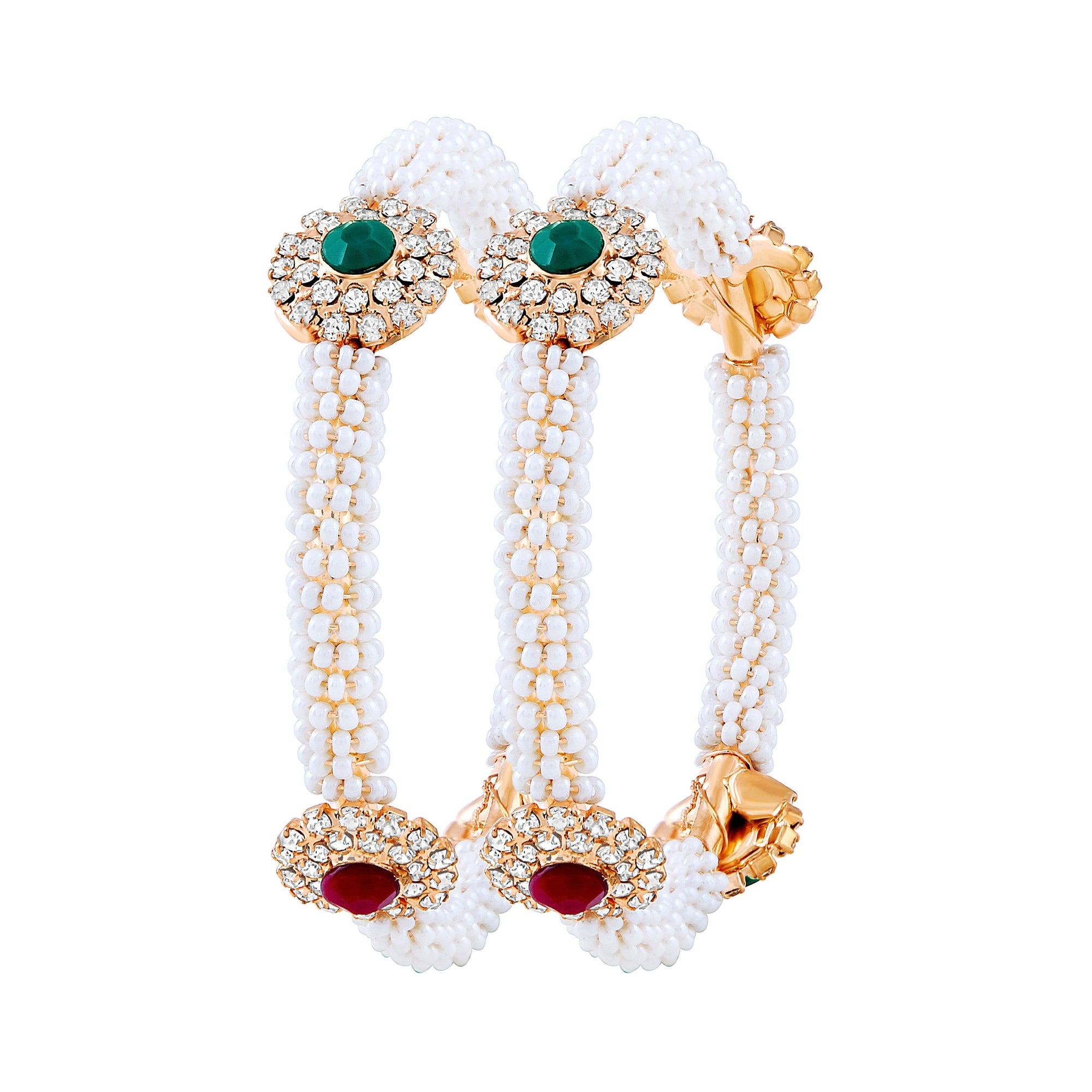 Asmitta Jewellery Beaded Gold  Bangle Set  -BG131