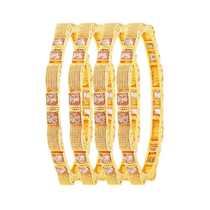 Asmitta Jewellery Gold Set Of 4 Bangles  -BG132