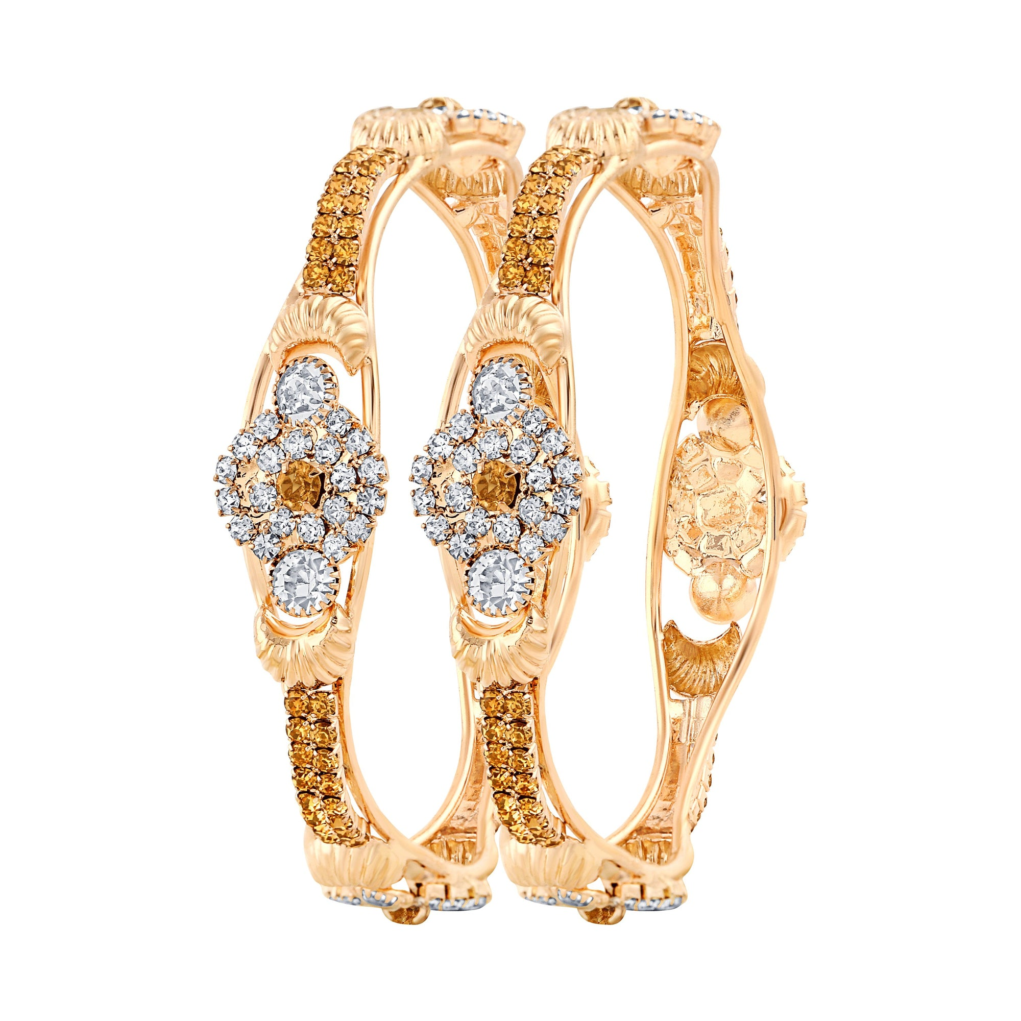 Asmitta Jewellery Gold Alloy Bangle Set -BG137