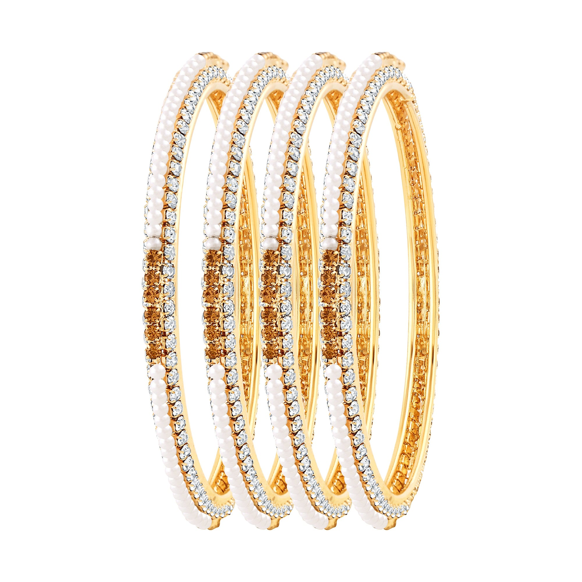 Asmitta Jewellery Beaded Gold  Set Of 4 Bangles  -BG140