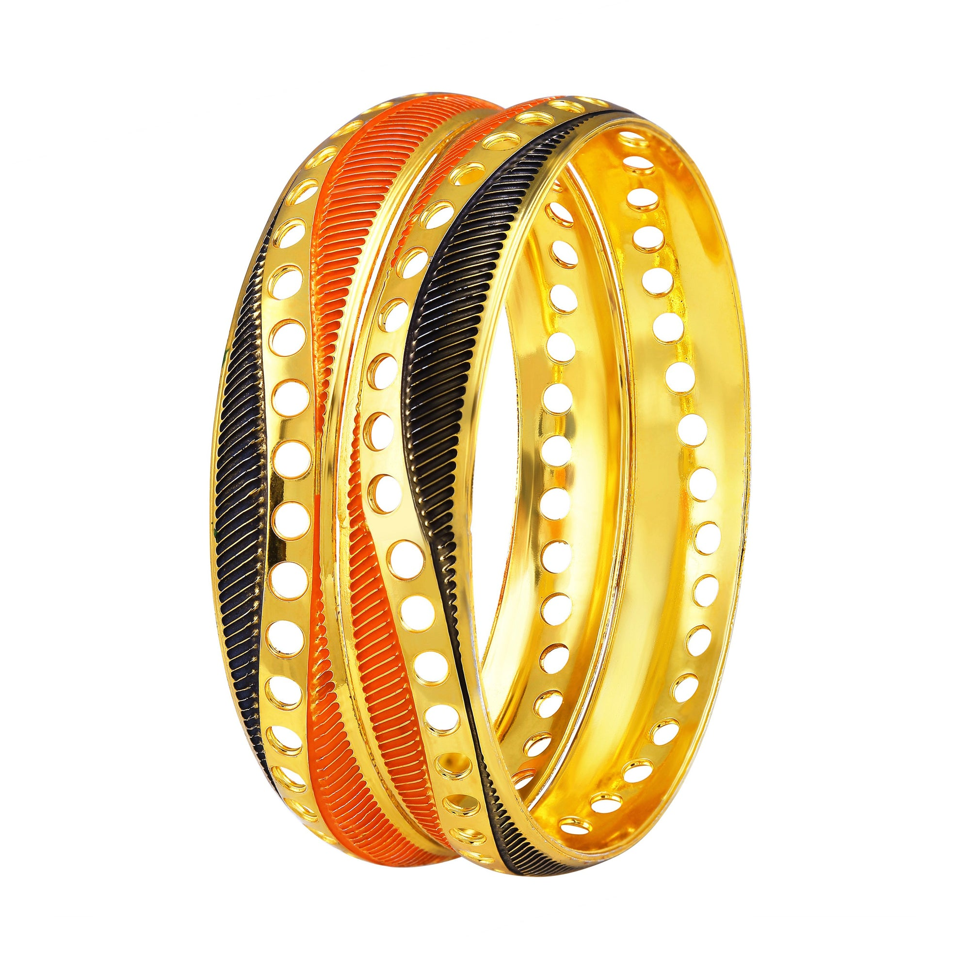Asmitta Jewellery  Gold Enamel Bangle  -BG165