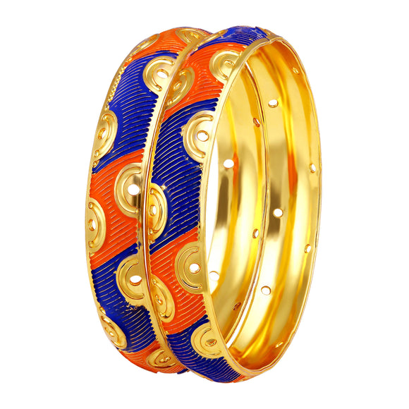 Asmitta Jewellery Gold Enamel Bangle  -BG166