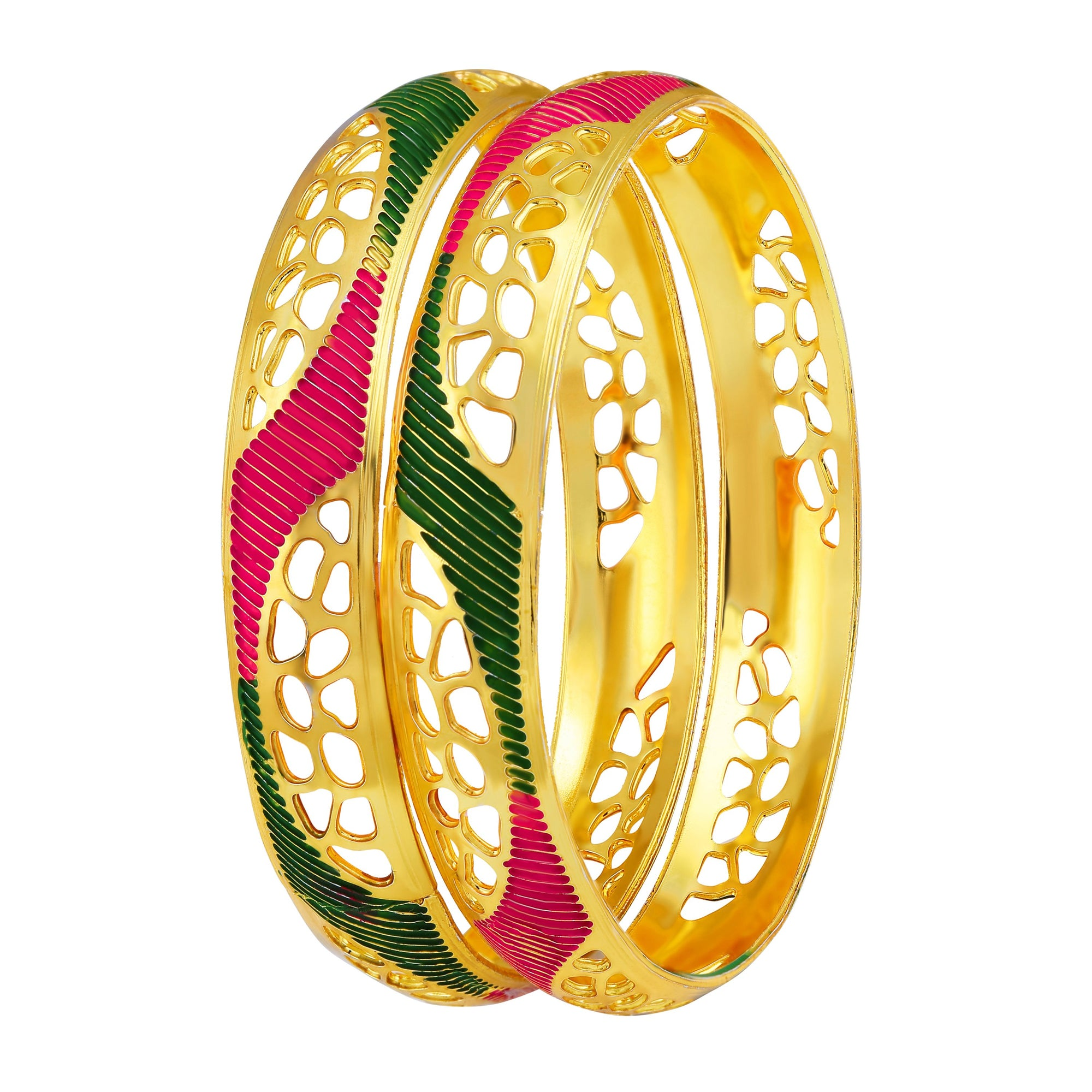 Asmitta Jewellery Gold Enamel Bangle  -BG167