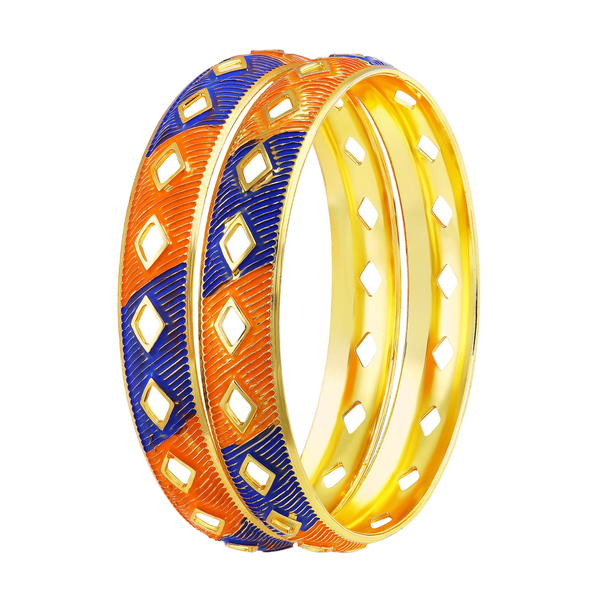 Asmitta Jewellery Gold Enamel Bangle  -BG168