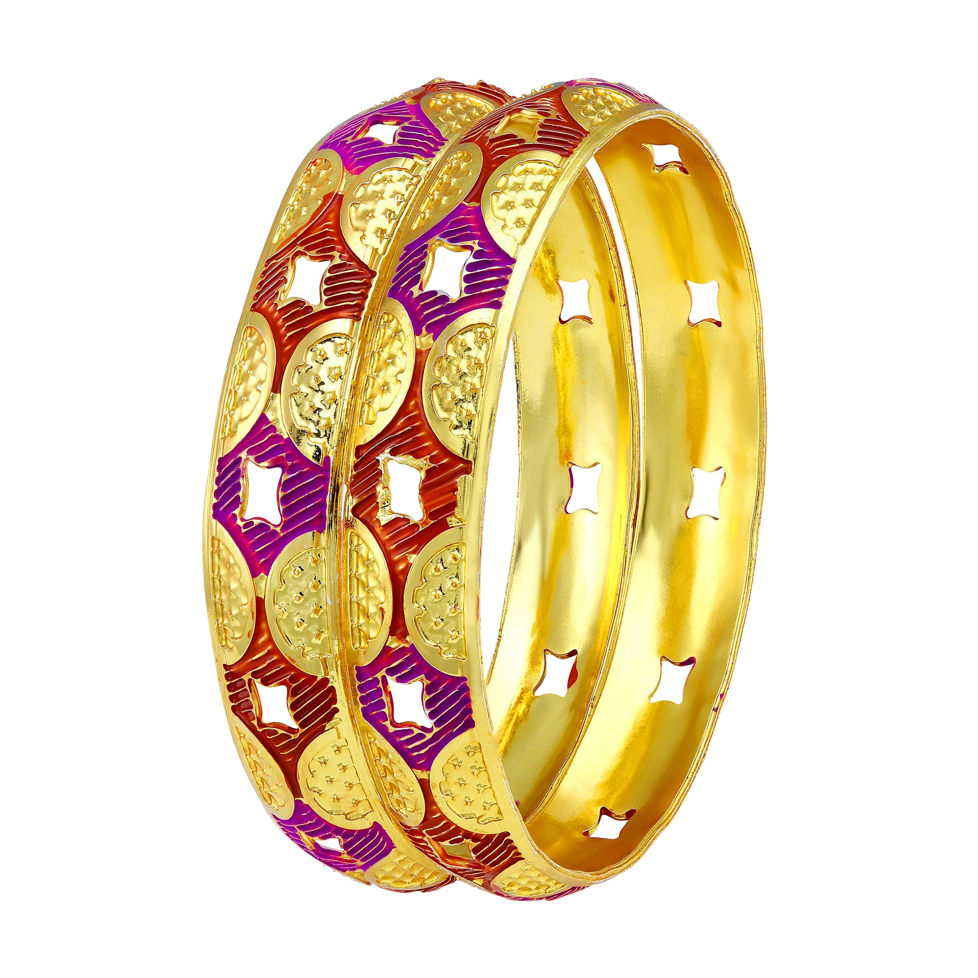 Asmitta Jewellery Gold Enamel Bangle  -BG169