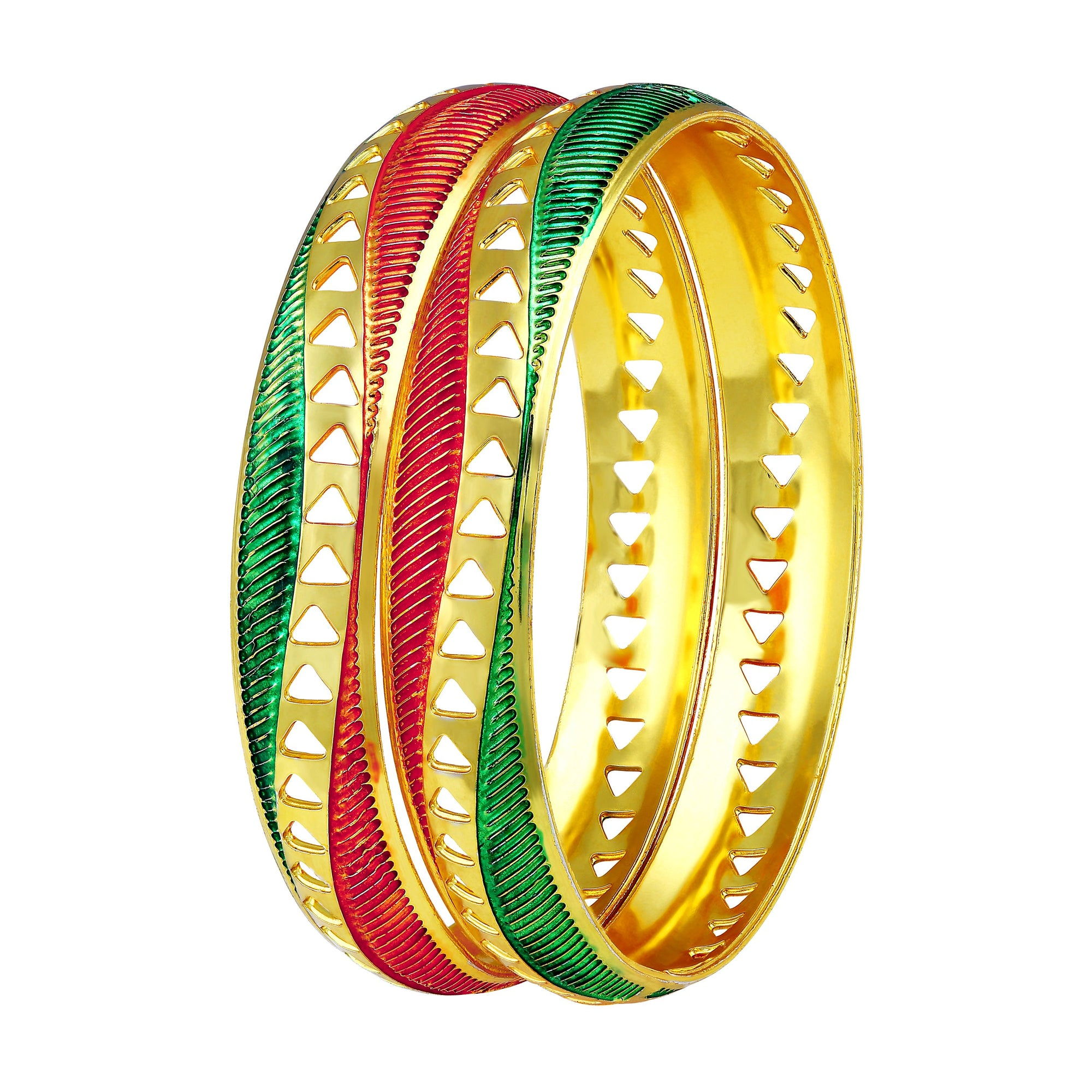 Asmitta Jewellery Gold Enamel Bangle  -BG170