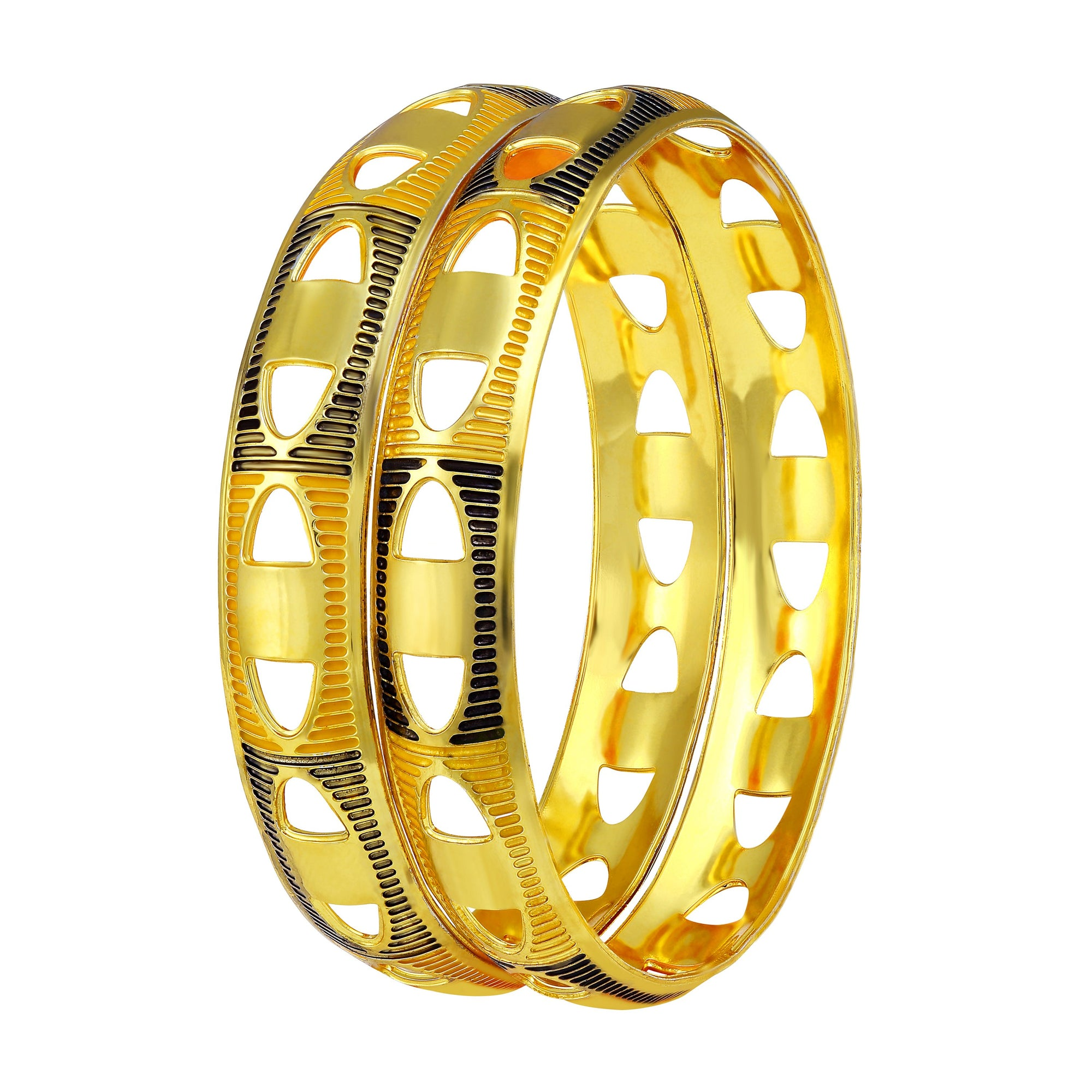 Asmitta Jewellery Gold Enamel Bangle  -BG171
