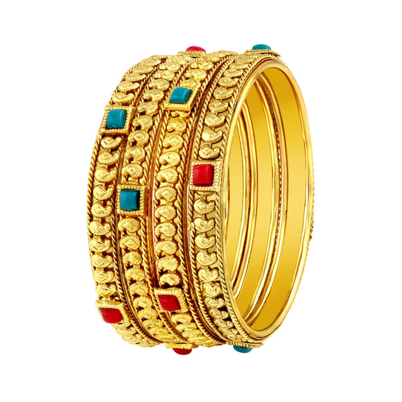 Asmitta Jewellery Gold Bangle Set  -BG212