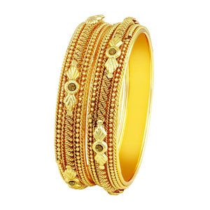 Asmitta Marvellous Traditional Gold Plated Lct Stone Bangles For Women