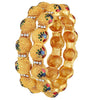 Asmitta Jewellery Brass Gold  Set of 2 Bangle Set  -BG281
