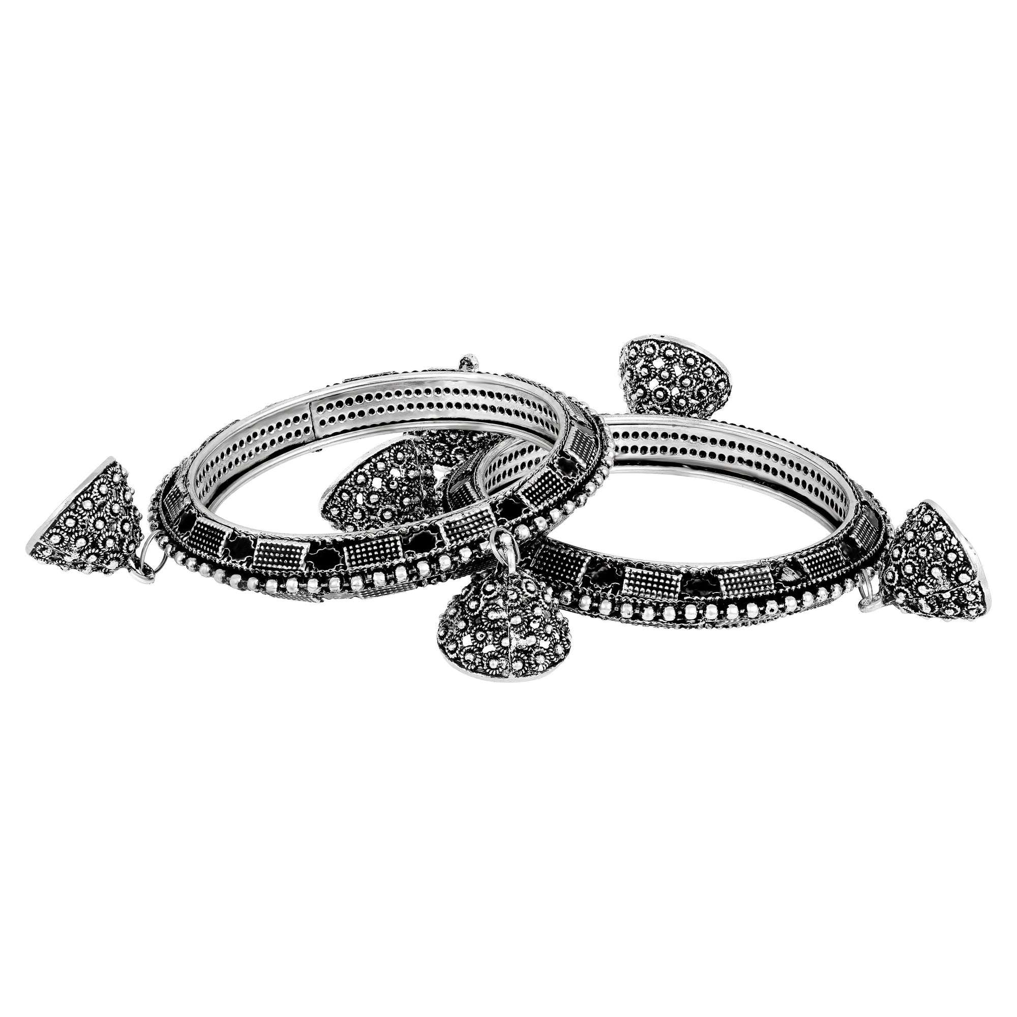 Asmitta Jewellery Silver Brass Bangle Set -BG349