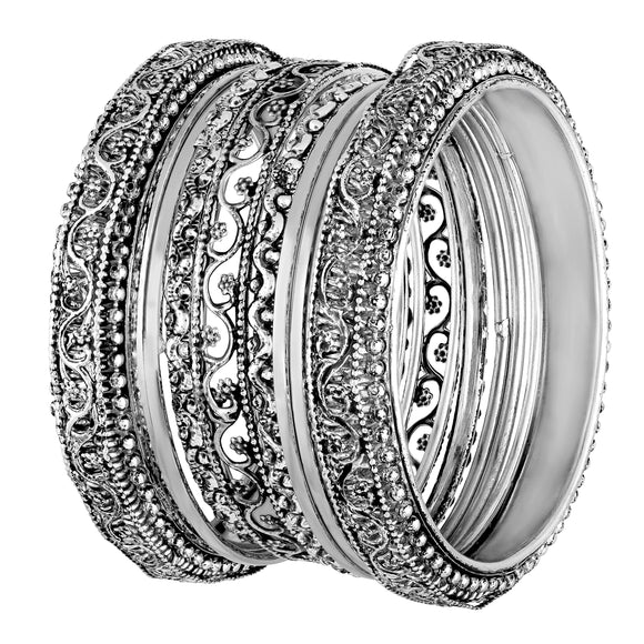 Asmitta Jewellery Silver alloy Bangle Set -BG350