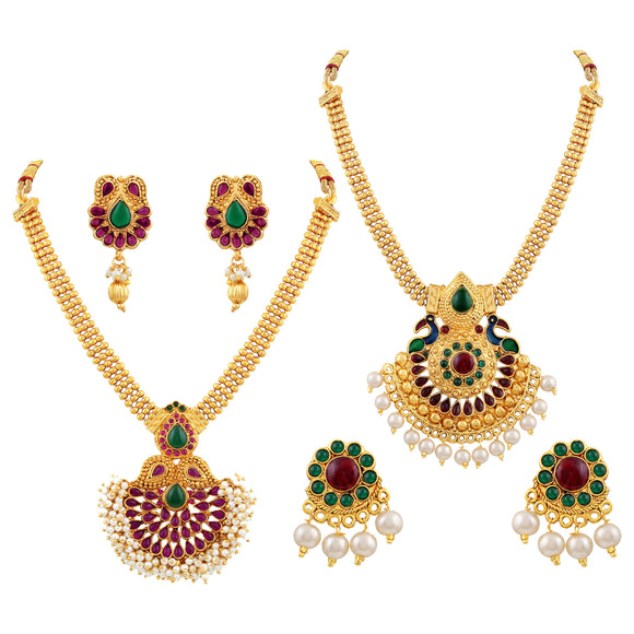 Asmitta Jewellery Zinc Jewel Set (Multicolor) -CB139