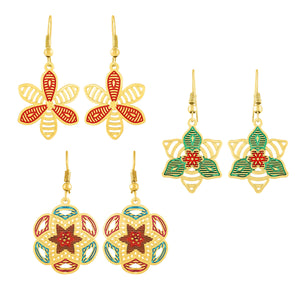 Asmitta Jewellery Gold Brass Earring Combo - CB143