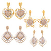 Asmitta Jewellery Gold Zinc Earring Combo - CB146