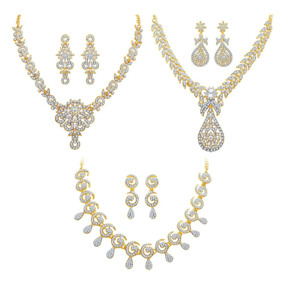 Asmitta Jewellery Zinc Jewel Set (Gold) -CB165