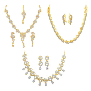 Asmitta Jewellery Zinc Jewel Set (Gold) -CB166