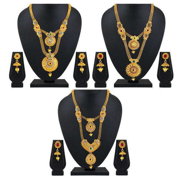 Asmitta Jewellery Zinc Jewel Set (Gold) -CB199