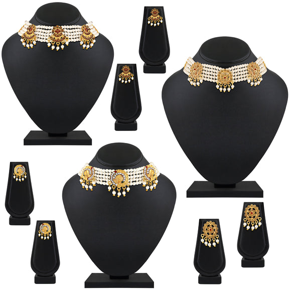 Asmitta Jewellery Zinc Jewel Set (Gold) -CB230