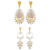 Asmitta Jewellery Gold Zinc Earring Combo - CB245