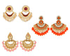 Asmitta Jewellery Gold Zinc Earring Combo - CB260