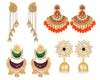 Asmitta Jewellery Multicolor Zinc Earring Combo - CB263