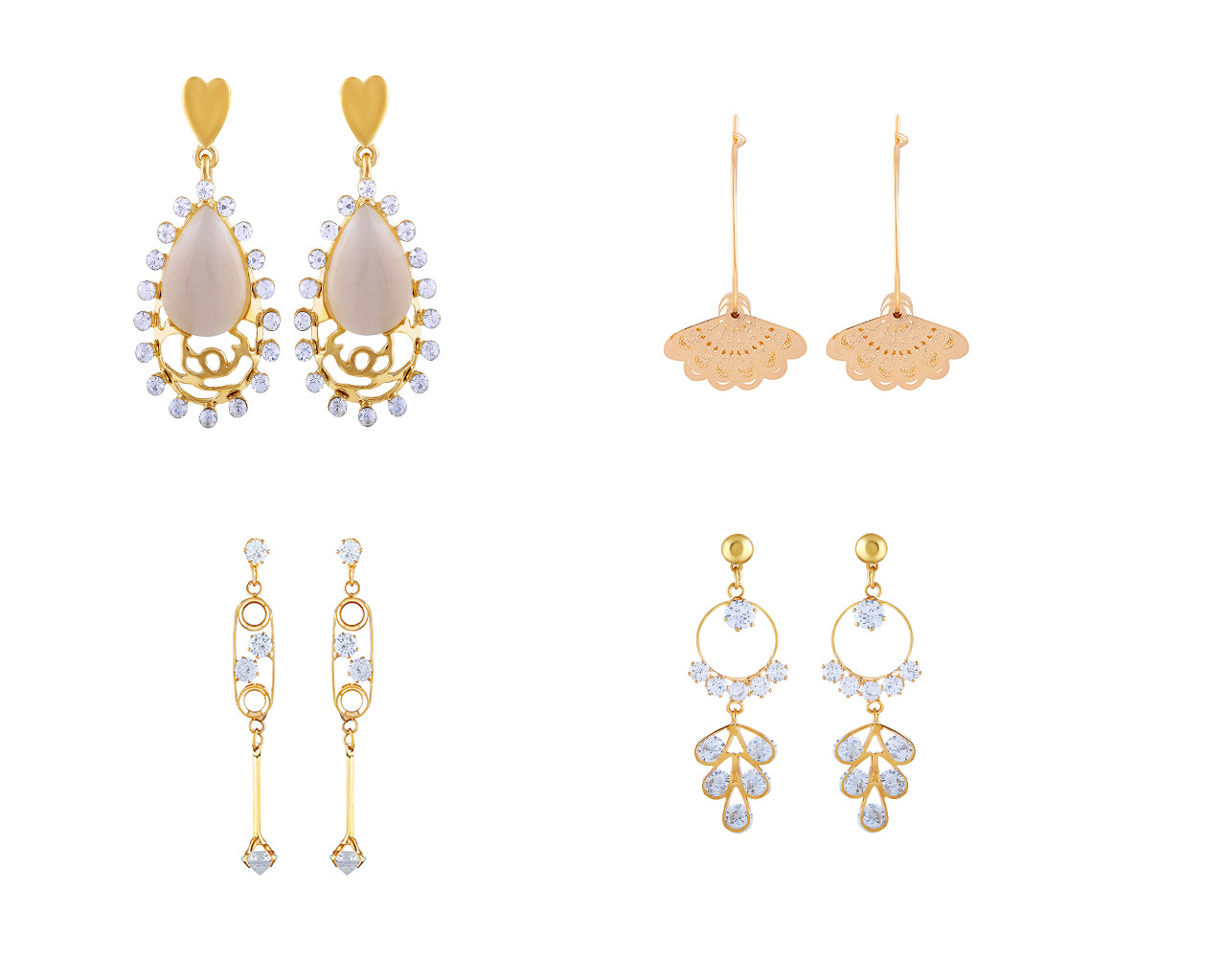 Asmitta Jewellery Gold Alloy Earring Combo - CB265