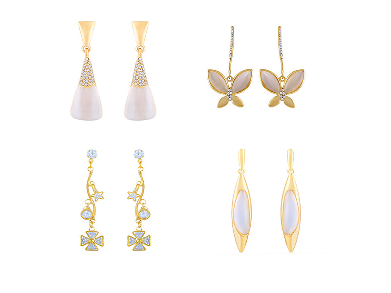 Asmitta Jewellery Gold Alloy Earring Combo - CB266