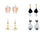 Asmitta Jewellery Gold Alloy Earring Combo - CB267